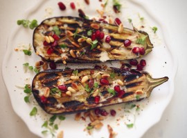 Aubergine with tahini dressing