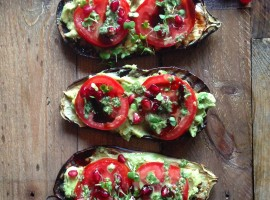 Griddled aubergine