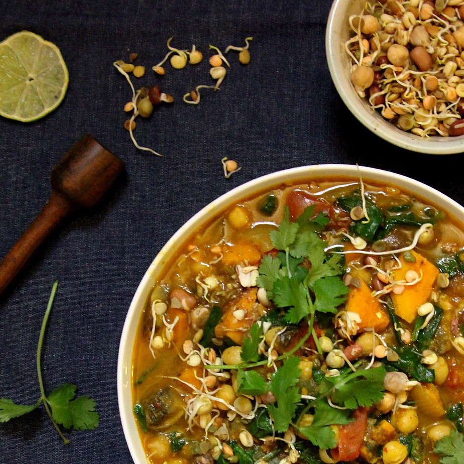 sweet potato, chickpea and coconut curry