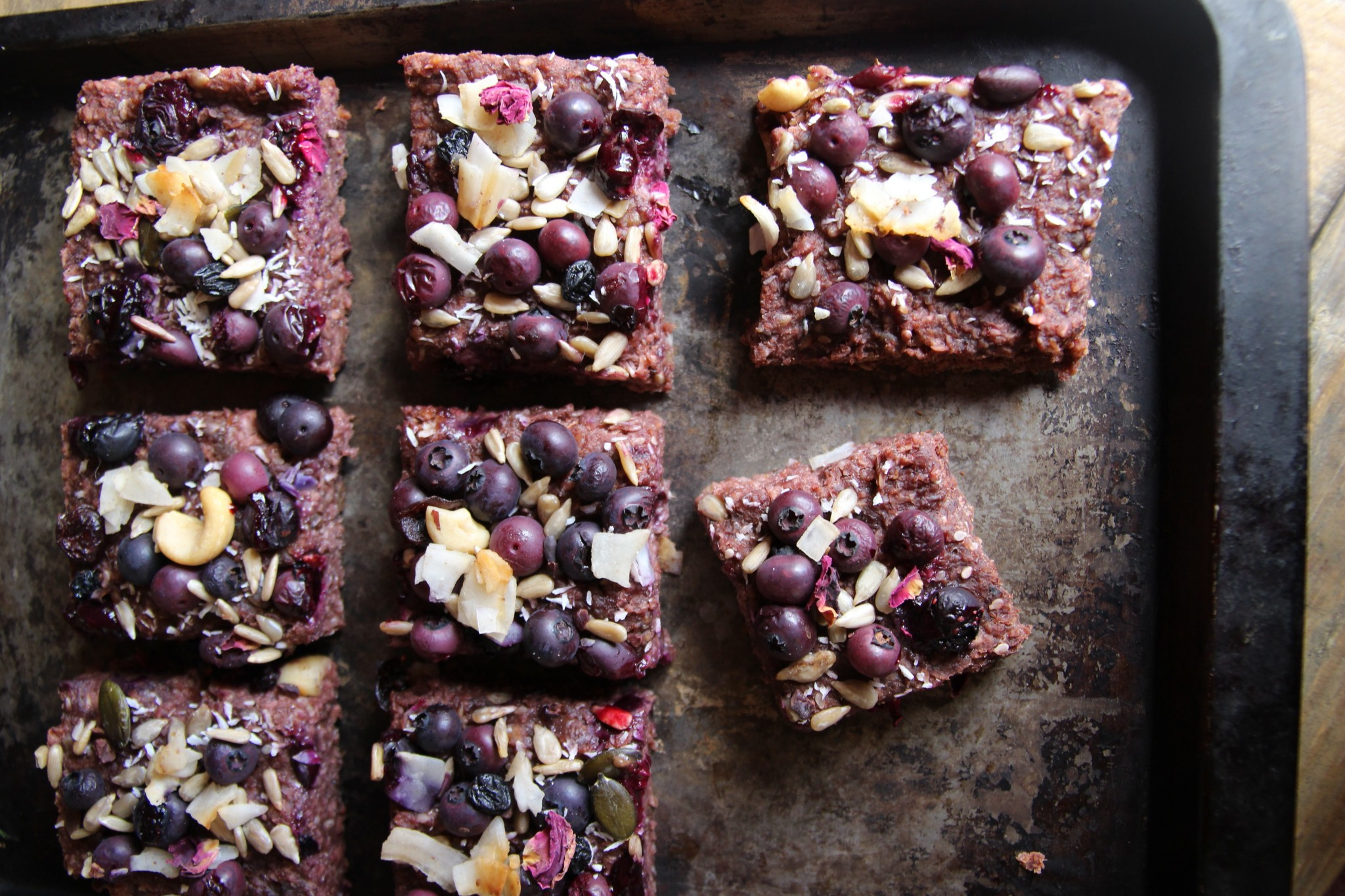 Banana Beetroot Blueberry Flapjacks Vegan Gluten Free