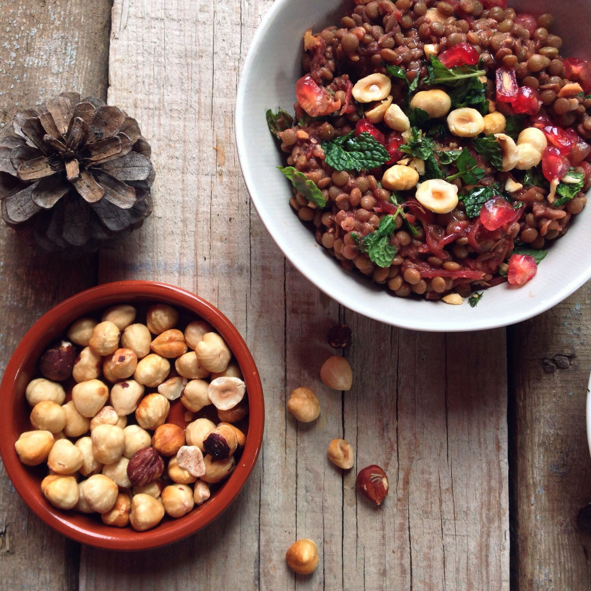 Warm lentil and Beetroot Salad