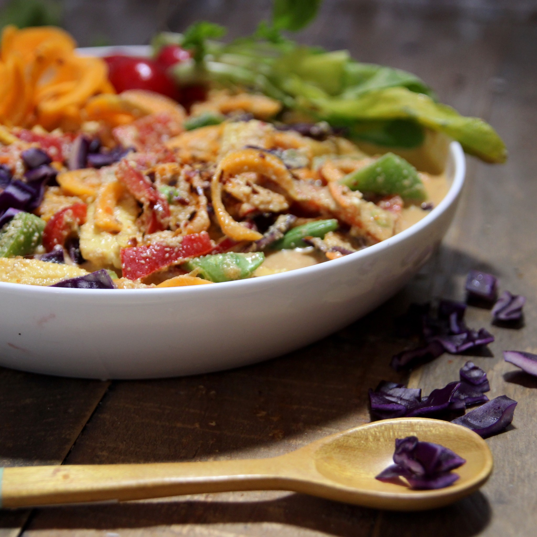 Raw coconut thai curry