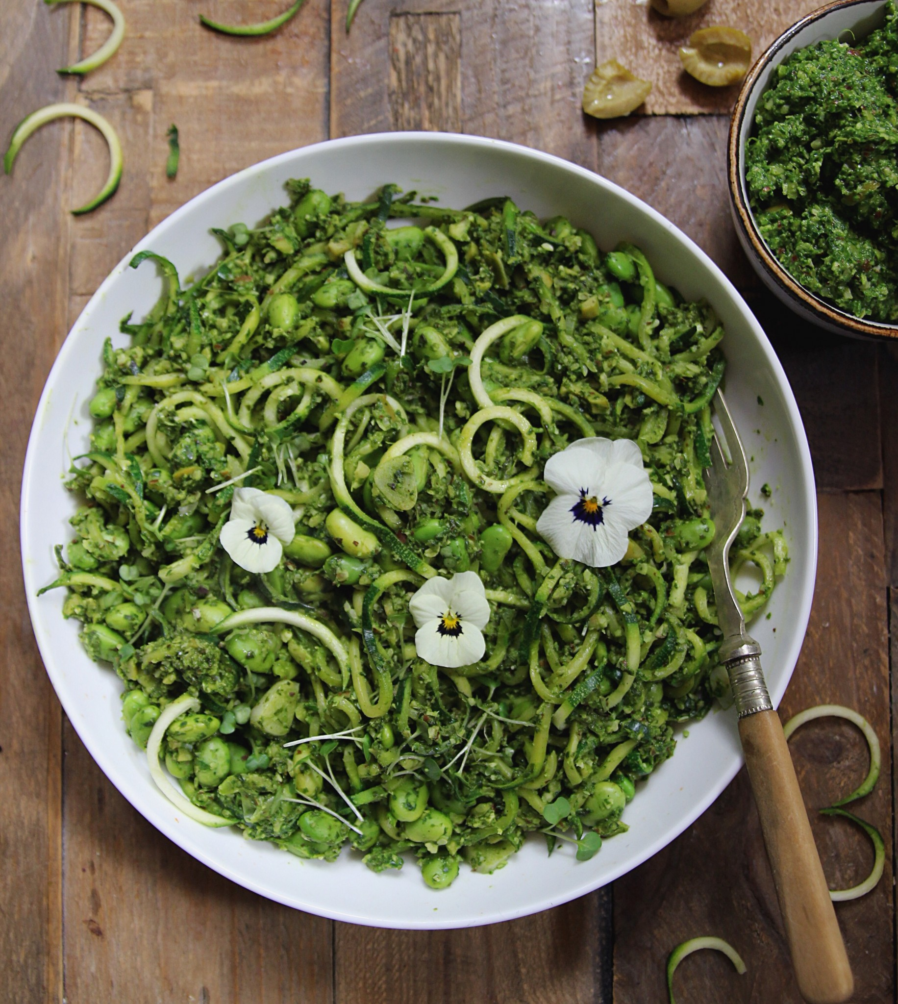 Courgette Pasta with Pesto