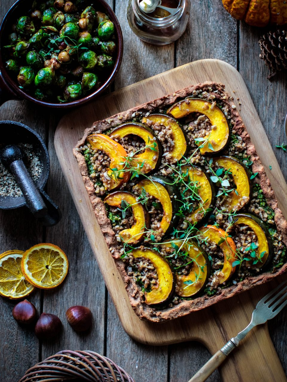 Organic feed your happy christmas chestnut squash tart rebel so whats my perfect plant based christmas lunch well vegetables feature heavily lots of roast veg and parsnips braised red cabbage crispy roast forumfinder Choice Image